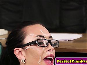 UK nurse stroking in office before facial