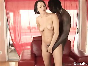 black-haired bombshell Dana gets an multiracial anal porking