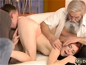 anilingus and fingering guys backside hardcore sudden practice with an senior gent