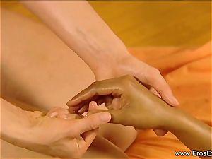Slow sensual massage fumble For gals