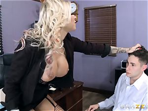 warm Headmistress Britney Shannon gets her palms on a mischievous student