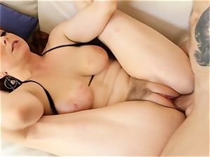 sandy-haired Penny Pax pummels with her furry coochie