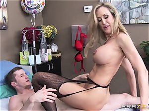 Rock rigid patient gets banged by physician Brandi enjoy