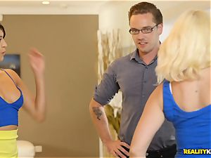 super-naughty real estate agent Sophia Leone inserts a customers boner in her jaws