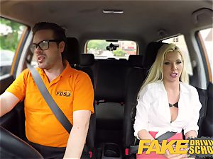 faux Driving college Barbie Sins messy blowjob