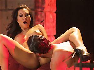 Asa Akira gets her scorching lips obese a hefty lengthy jizz-shotgun
