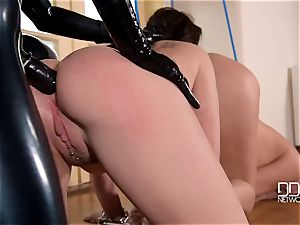 latex headmistress latex Lucy punishes her slave's donks