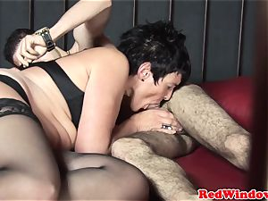 Fisted dutch escort gets assfingered