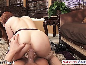 Ginger Penny Pax in pov getting her vagina rode