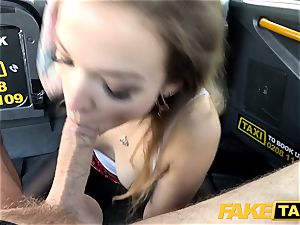 faux taxi diminutive Kylie Nymphette fuckbox romped