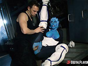 Space porno parody with super-fucking-hot alien Rachel Starr