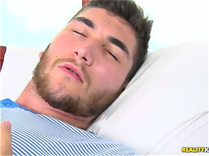 cumming on the face of molten european honey Tina Kay after a firm poon smash