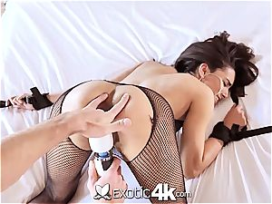 Exotic4k latin Adrian Hush trussed up poke and internal ejaculation