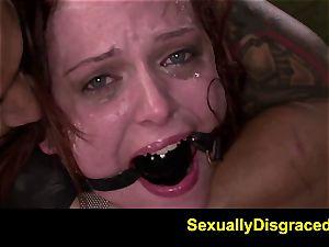 FetishNetwork Emma Evins dp restrain bondage fuck-fest and deepthroat