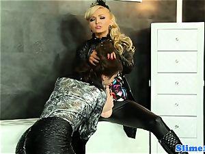 WAM female dominance girly-girl pusyfucking at the gloryhole