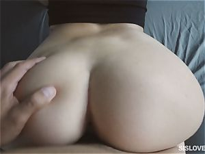 Naiomi Mae throating on her bothers manhood