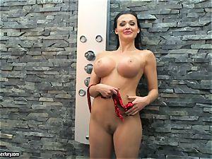 Aletta Ocean horny lady taking a shower nude