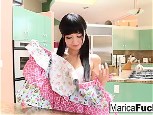 asian sweetie Marica Hase deepthroats and smashes