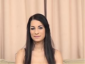 Real multiracial auditions Elizabeth all-natural bra-stuffers drilled