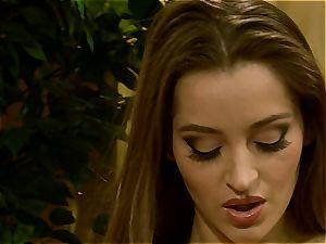Pretty Dani Daniels softly masturbates her slots