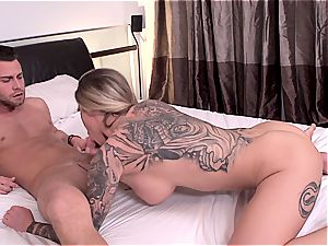 huge-titted and tatted Karma RX having lusty lovemaking