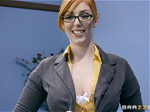 manstick greedy Lauren Phillips nailed in her ginger vag