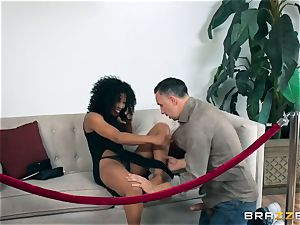 dark-hued ultra-cutie Misty Stone pounded with a firm long wood