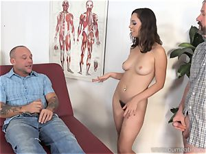 Jade Nile Has Her hubby fellate stiffy and watch Her
