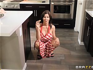 Alexis Fawx plowed in the kitchen