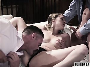 unspoiled TABOO stunner Tricked Into vengeance 3some with Strangers