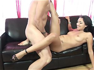 Scintillating Vicky chase gets plastered with jizz