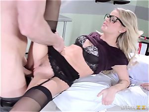 warm doctor Jessa Rhodes checks out this meaty manhood