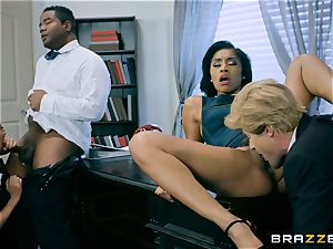 Charles Dera and Cherie Deville four-way