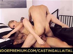 CASTNG ALLA ITALIANA - platinum-blonde vixen harsh dp fucky-fucky