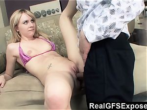 RealGfsExposed Her stepfathers thick fuck-stick