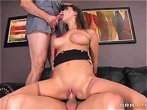 Ashley Adams gets torn up by two cops