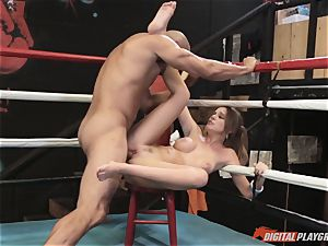 Alexis Adams twat wrinkled in the boxing ring by fat meatpipe
