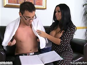 My kind, caring professor accepts my young knob in her mature vulva
